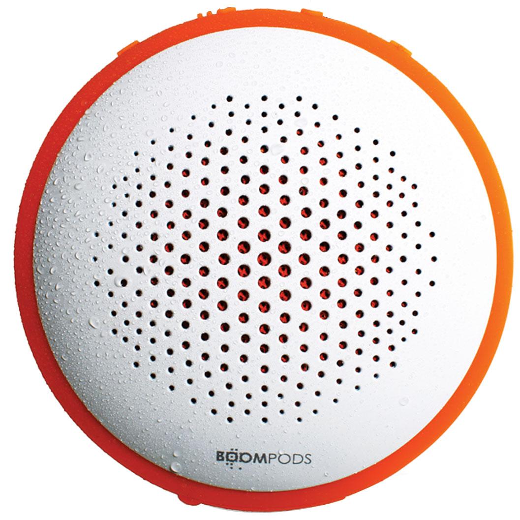 Boompods - Fusion - biały / pomarańczowy