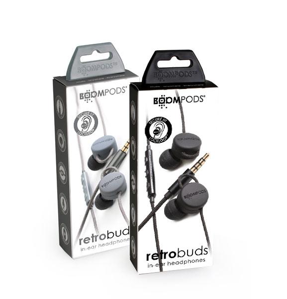 Boompods -retrobuds wired - close up