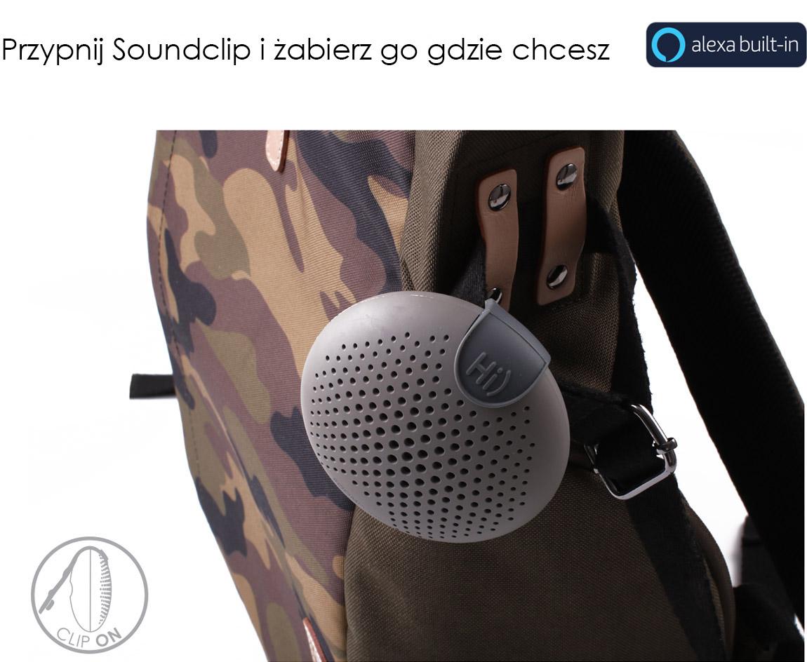 Najlepszy towarzysz w podróży Boompods Soundclip