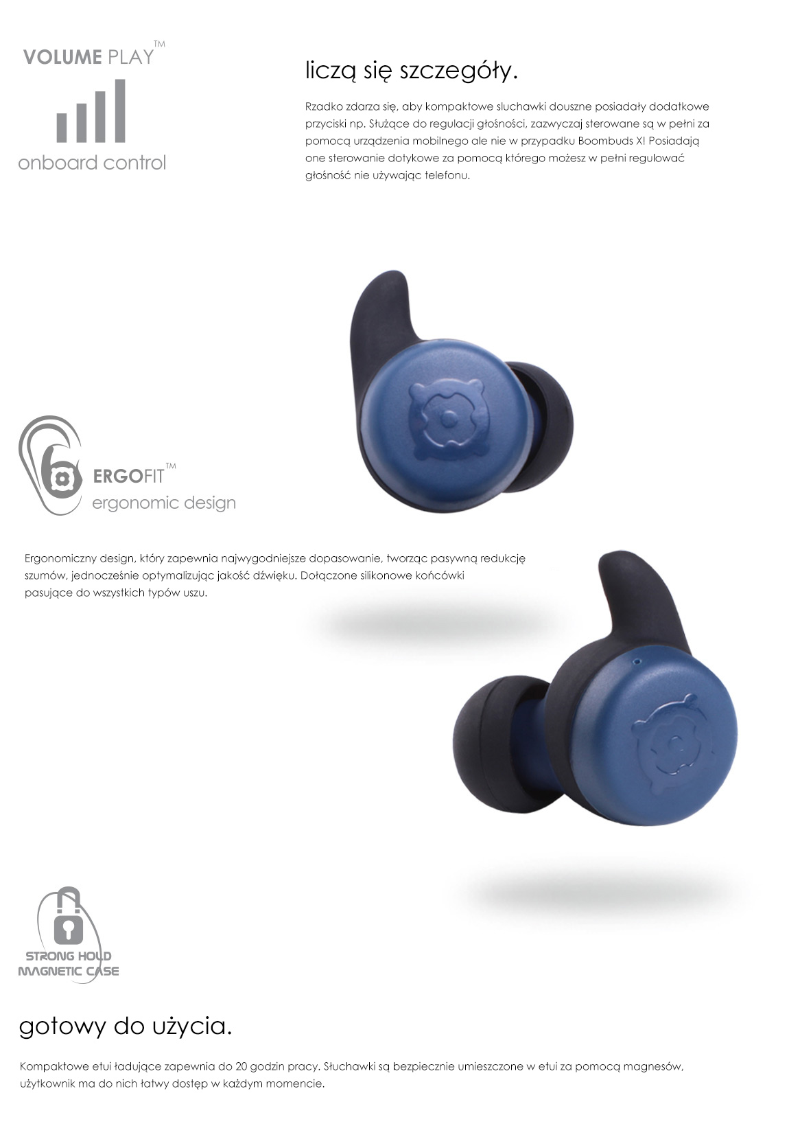 Boompods X - It's the little things that count - Ergofit - Strong hold magnetic case