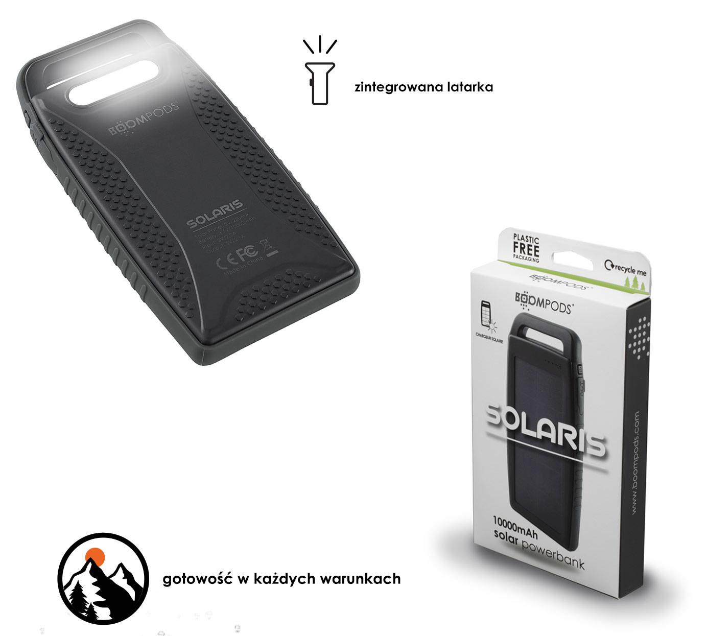 solarny powerbank Solaris 10000 mAH